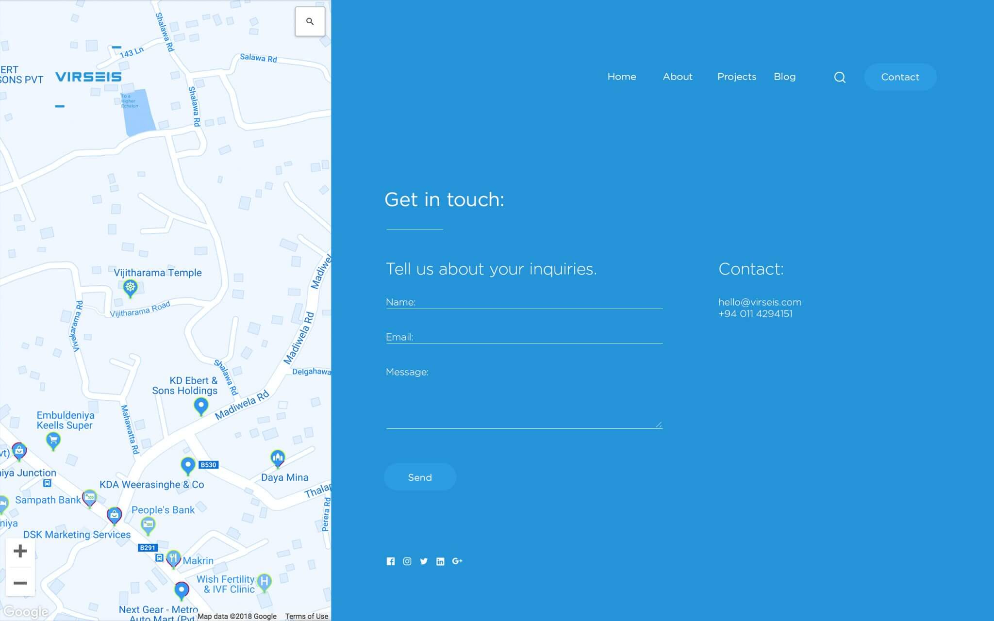 Virseis-web-contact-us-UI-design